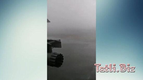 Qasırğa hərbi helikopterə zərər vurdu - VİDEO